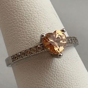 Jewelry - NWOT Stunning Sterling & CZ Ring